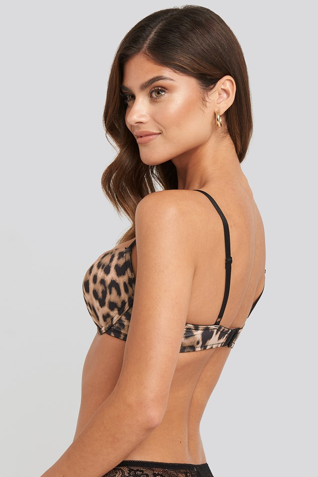 Leopard Padded Cup Bra Leo