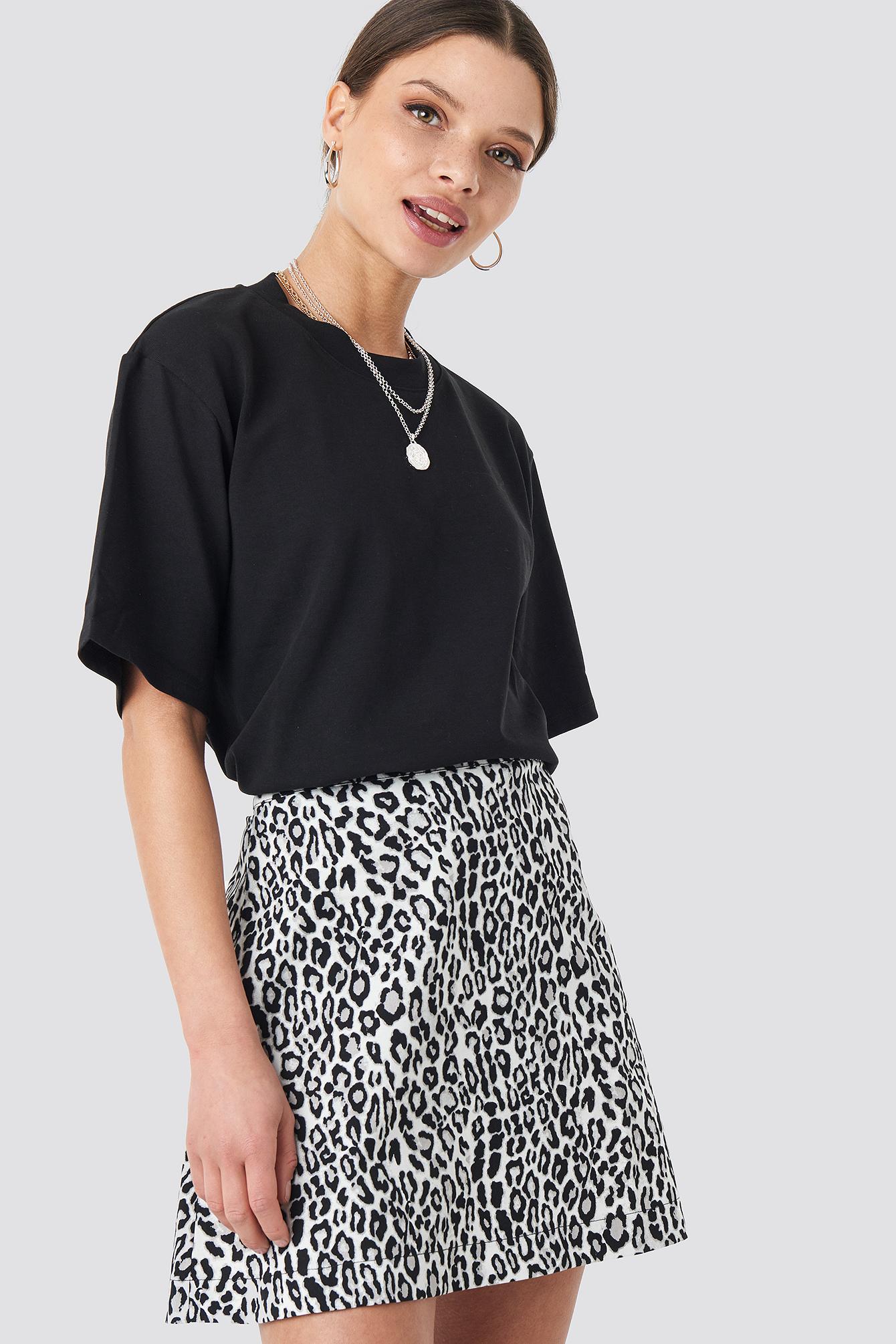 Leopard Print Mini Skirt NA-KD.COM