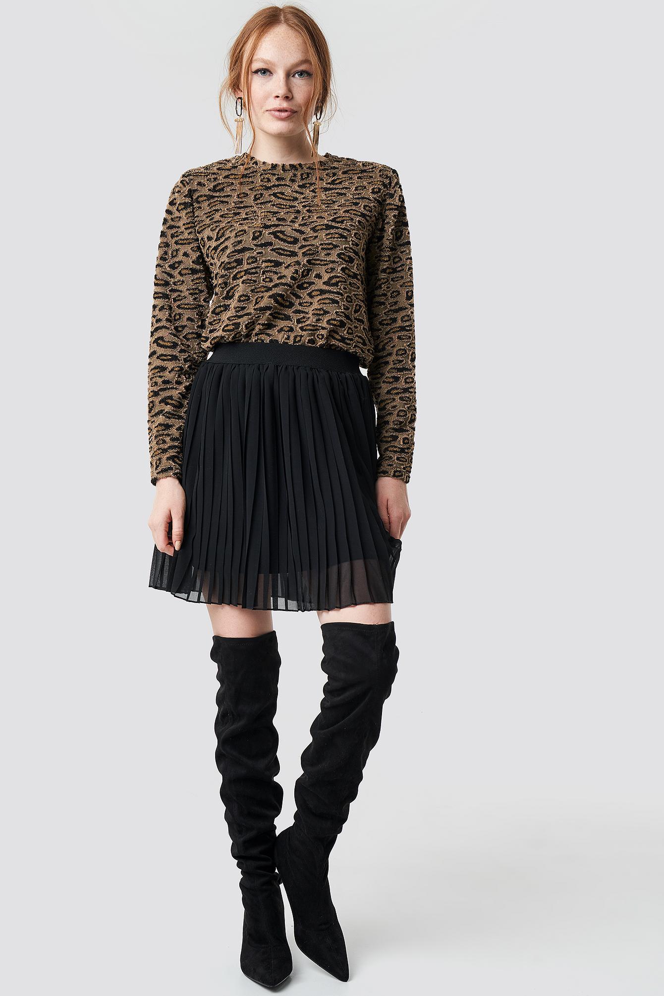 Leopard Print Sweater NA-KD.COM