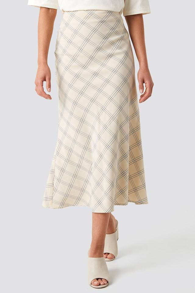Light Checkered Midi Skirt NA-KD.COM