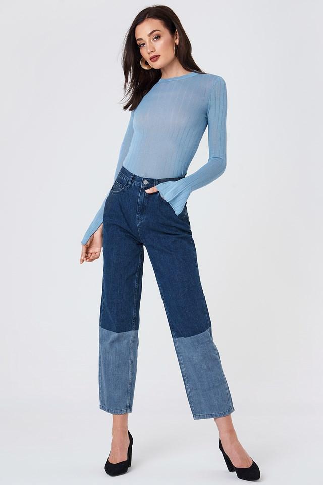 Light Knit Ribbed Sweater NA-KD.COM