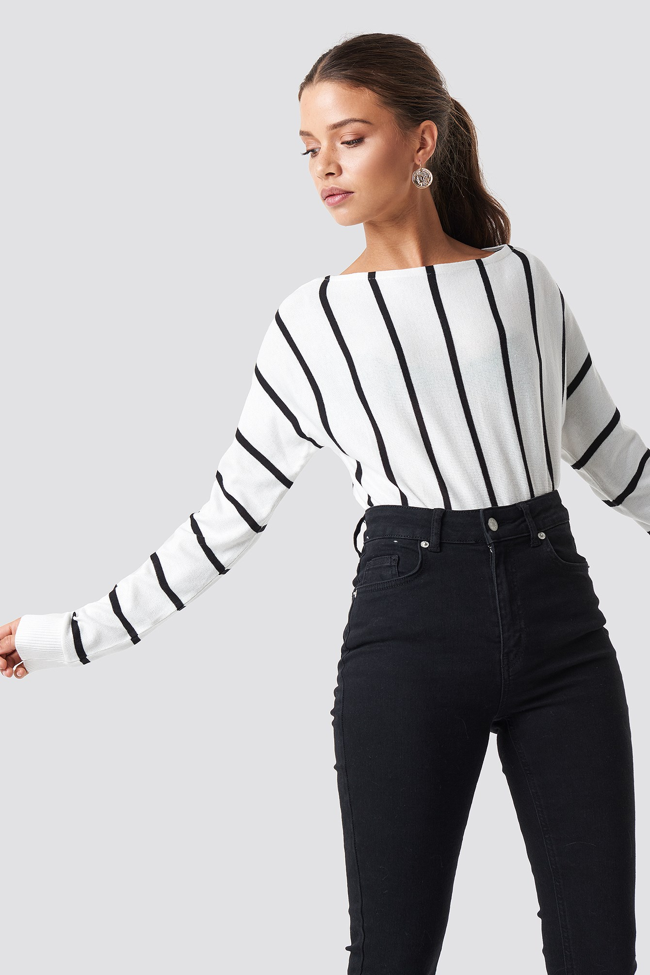 Light Knitted Striped Sweater NA-KD.COM
