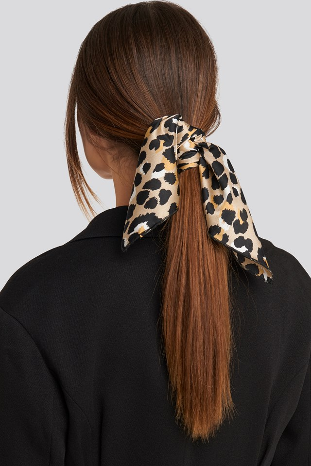 Light Leopard Satin Scarf Leopard