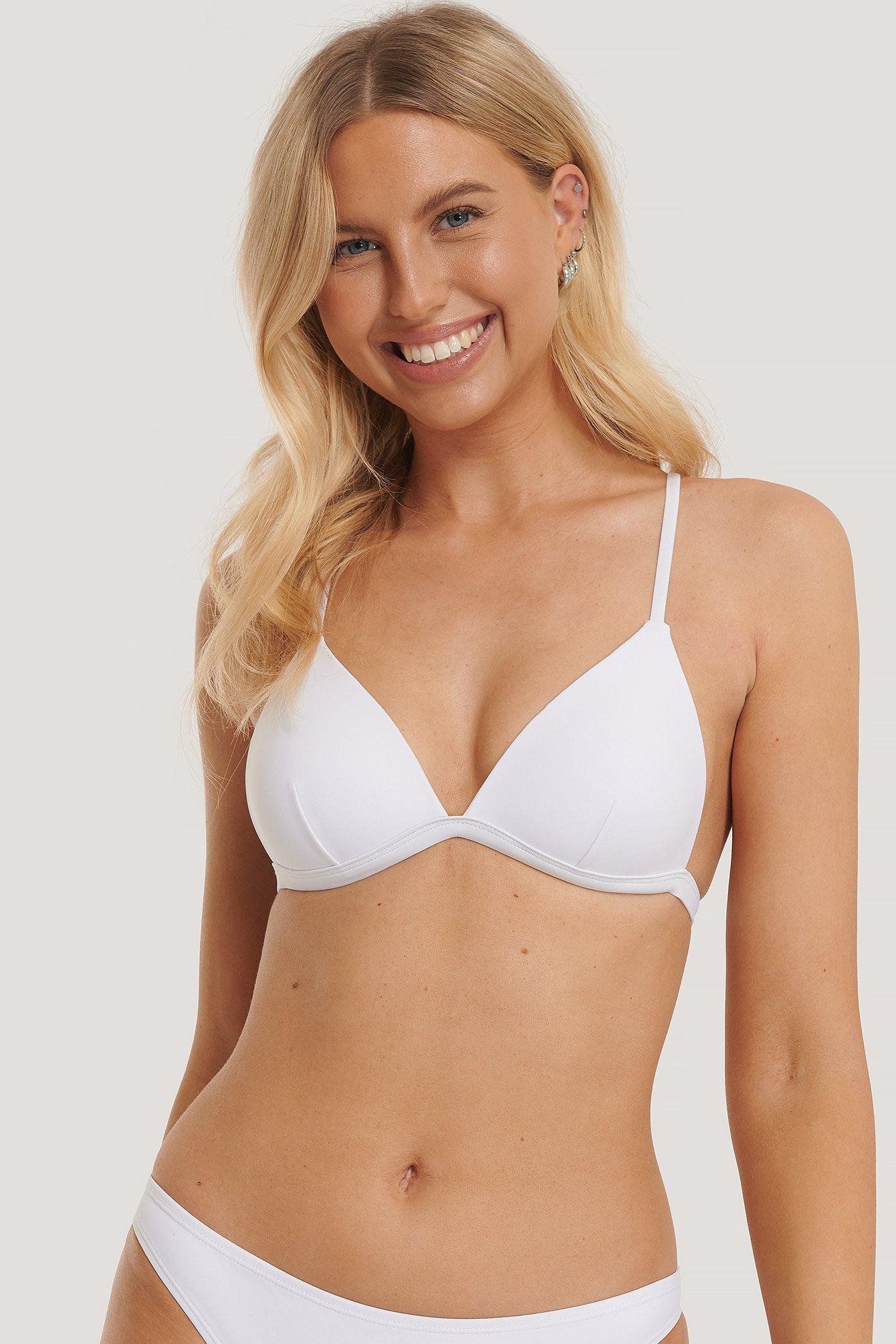 na-kd swimwear -  Gepolstertes Bikini-Oberteil - White