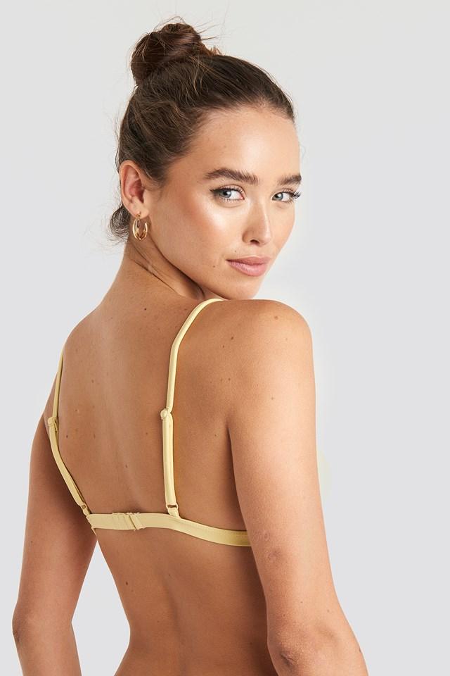 Light Padded Bikini Top Light Yellow