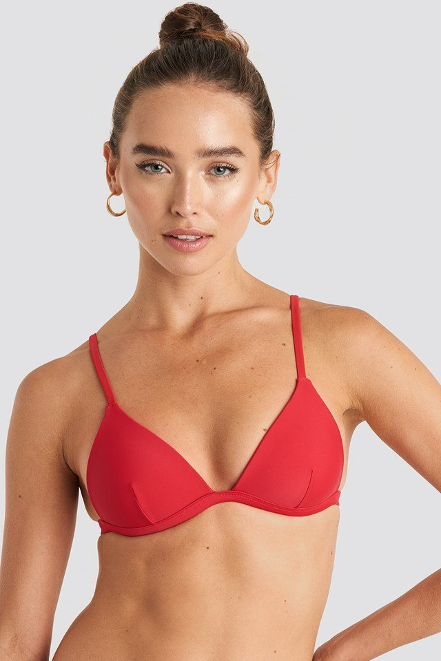 Light Padded Bikini Top Cherry Red