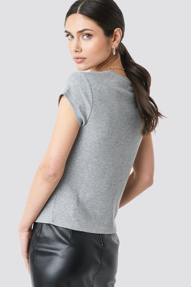 Light Rib T-shirt NA-KD.COM