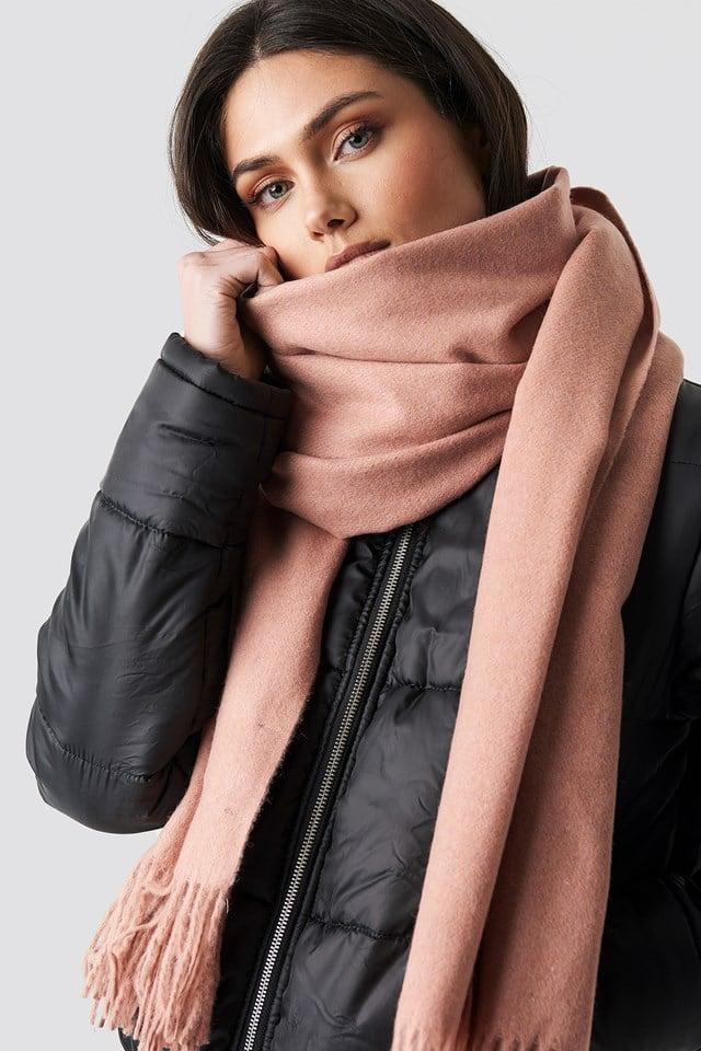 Light Wool Blend Scarf NA-KD Accessories