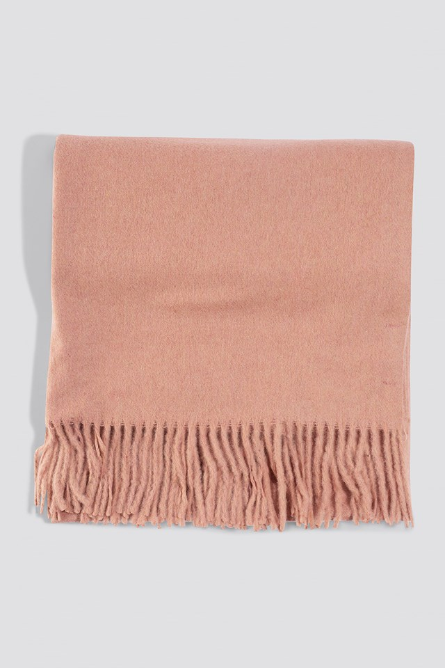 Light Wool Blend Scarf Dusty Pink