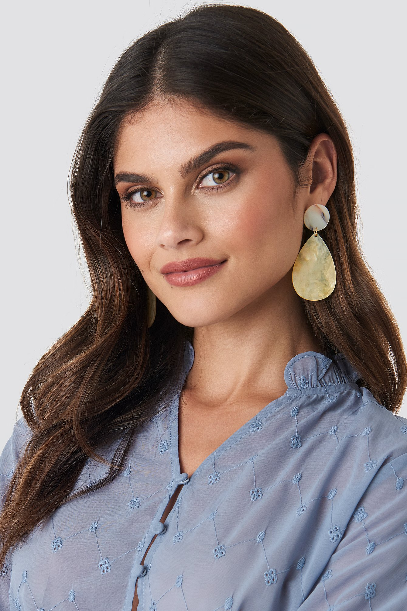 na-kd accessories -  Light Yellow Drop Earrings - Yellow