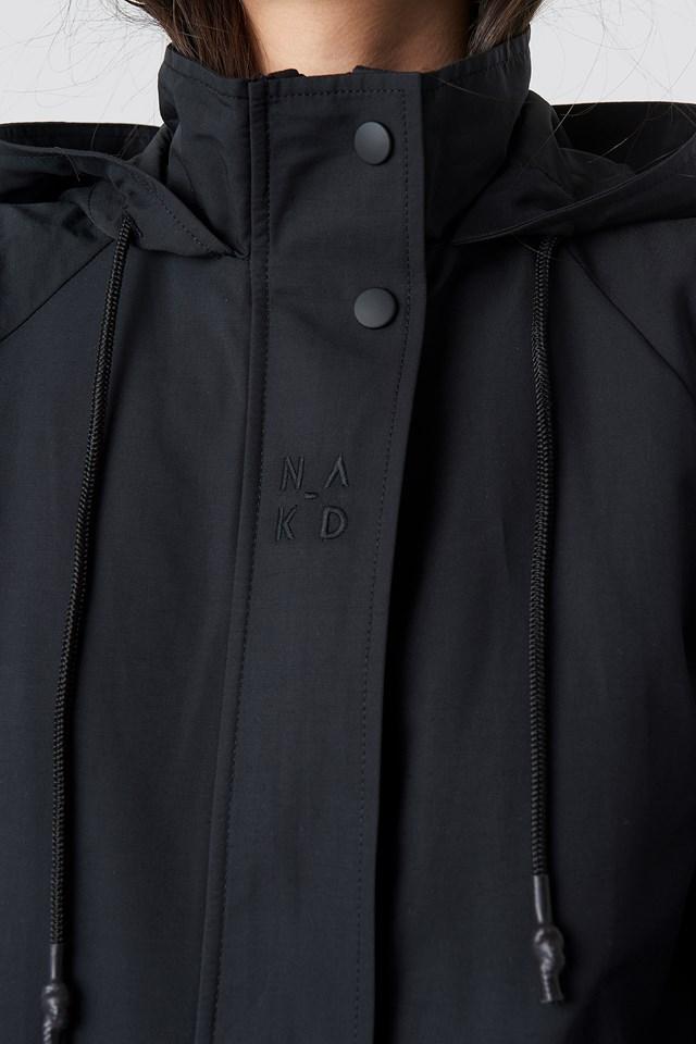 Lightweight Hooded Parka Black