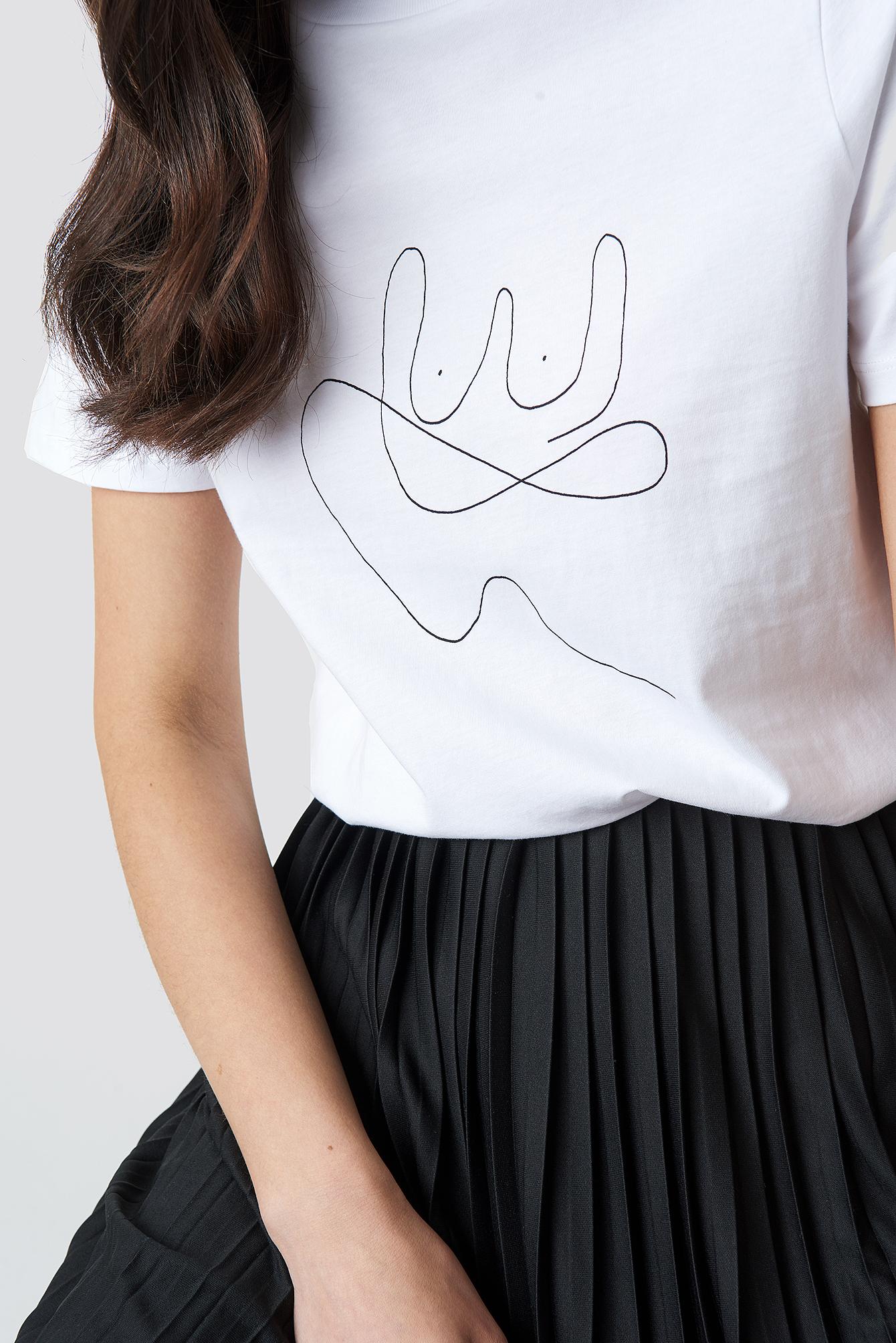 Line T-shirt NA-KD.COM