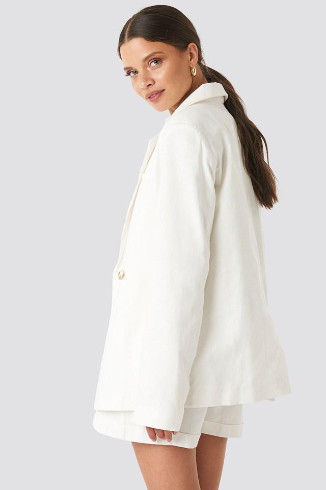 Linen Blend Loose Fitted Blazer NA-KD.COM