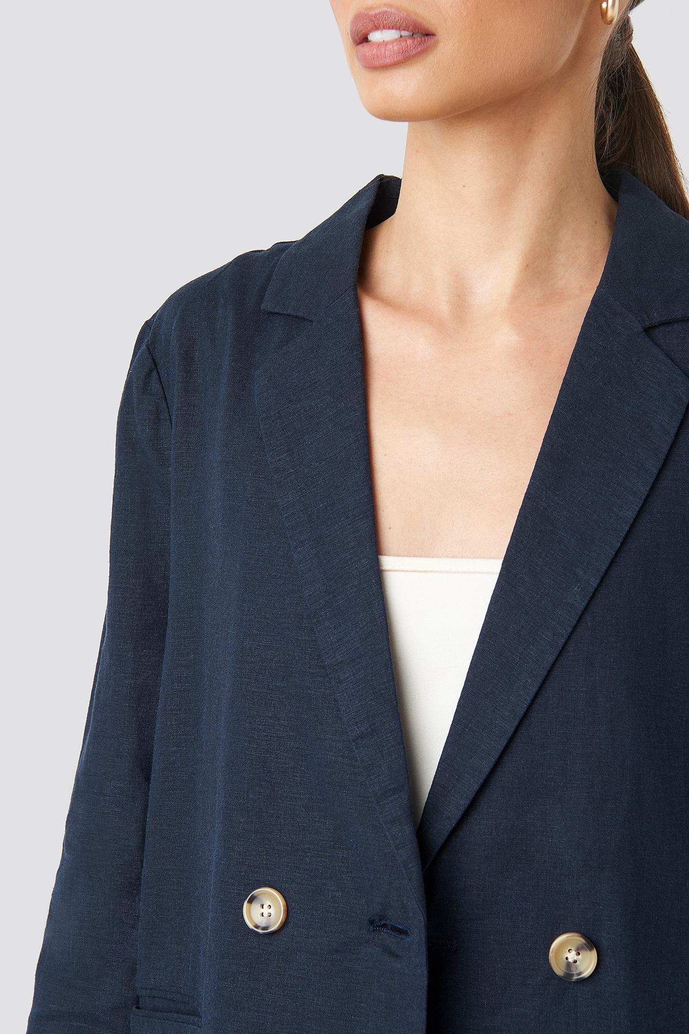 Linen Look Blazer NA-KD.COM