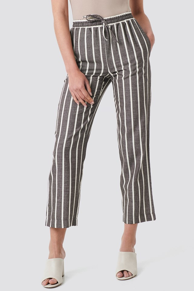 Linen Look Striped Pants NA-KD.COM