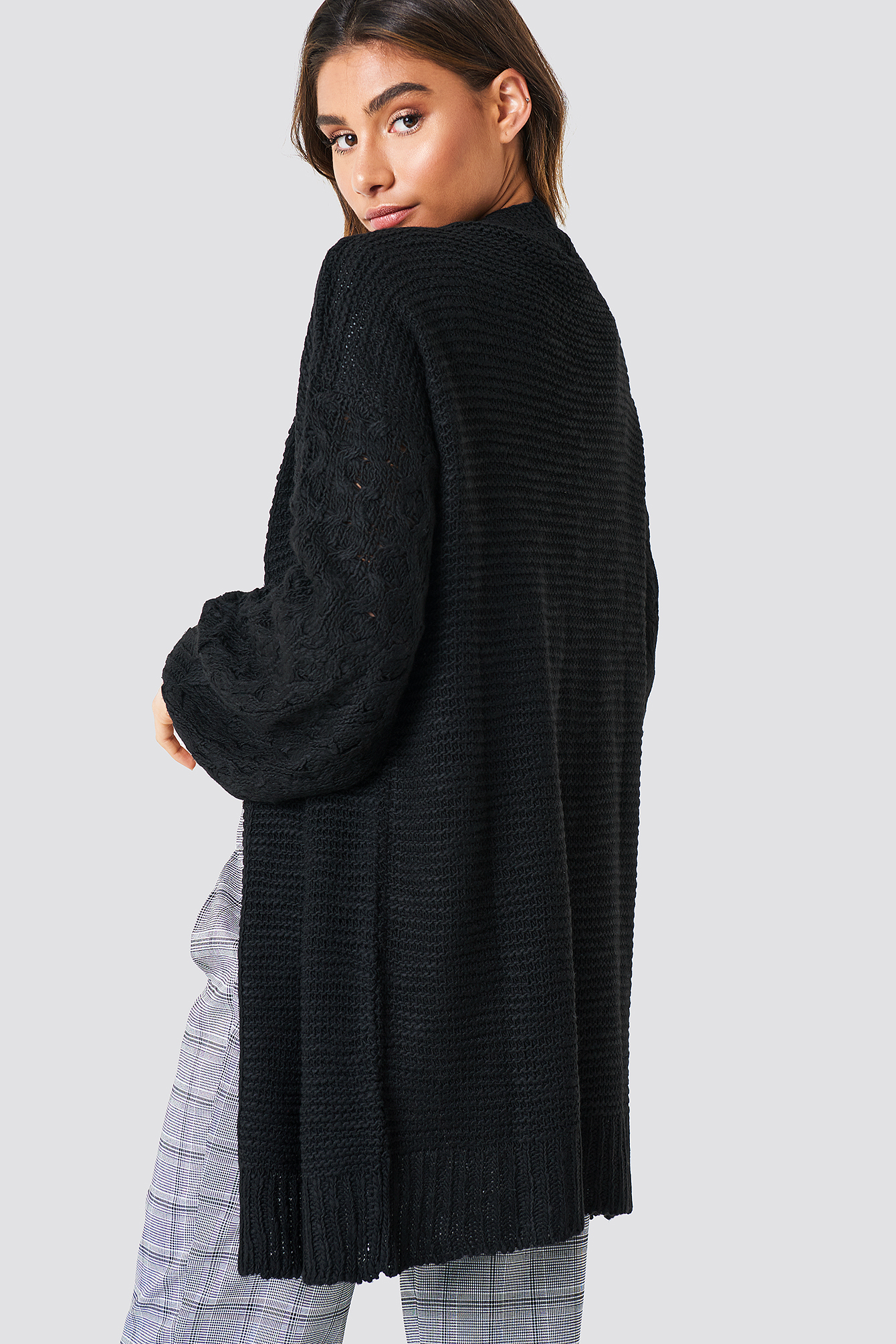 Links Links Knitted Cardigan NA-KD.COM
