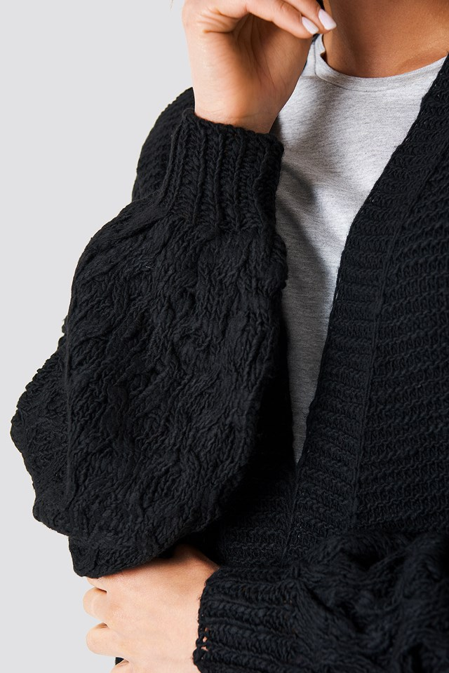 Links Links Knitted Cardigan Black