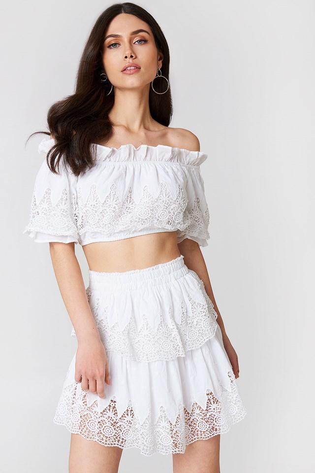Embroidery Set Skirt White