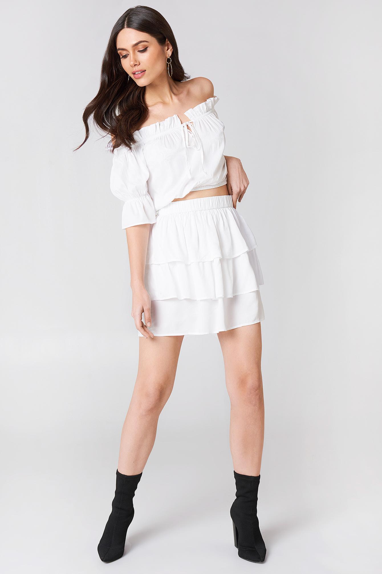 Layered Mini Skirt NA-KD.COM