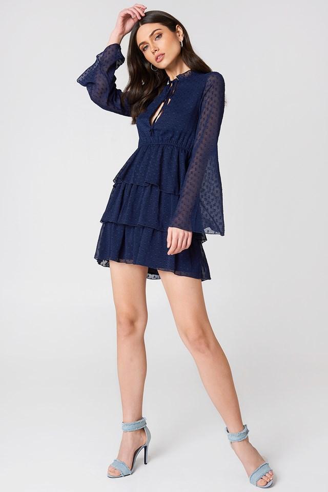 Swiss Dot Dress Midnight Blue