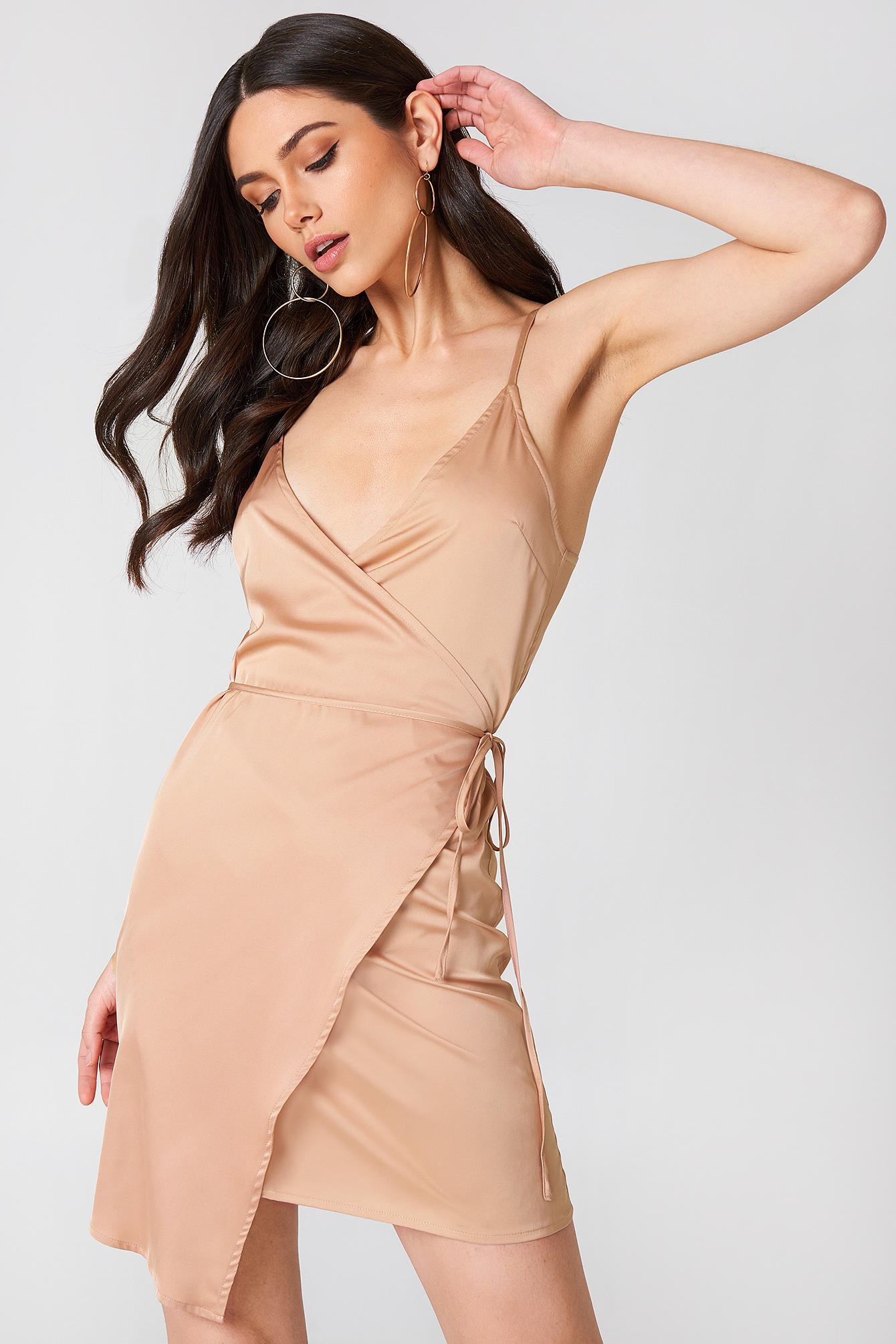Wrapped Satin Dress NA-KD.COM