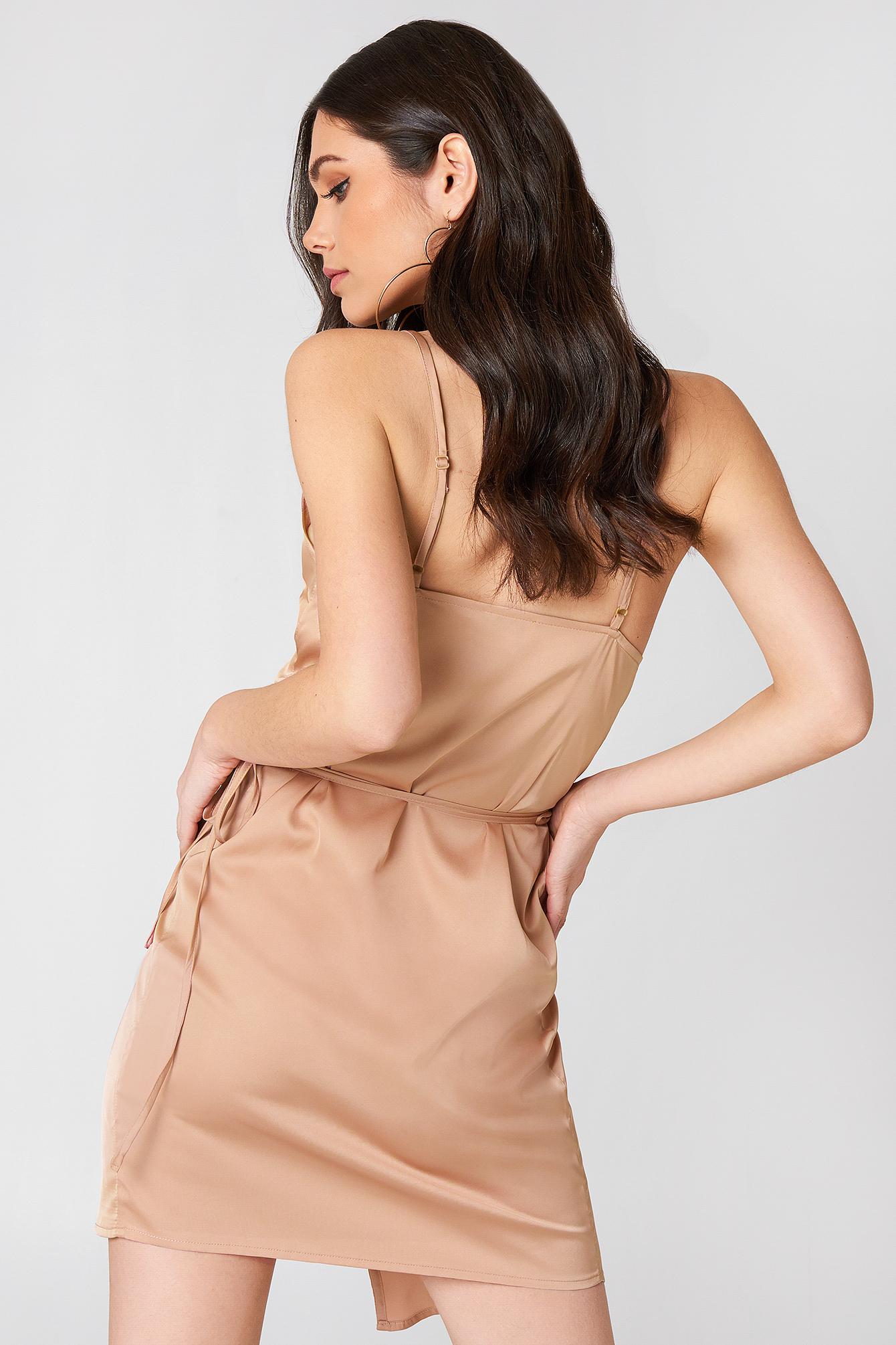 Wrapped Satin Dress NA-KD.COM