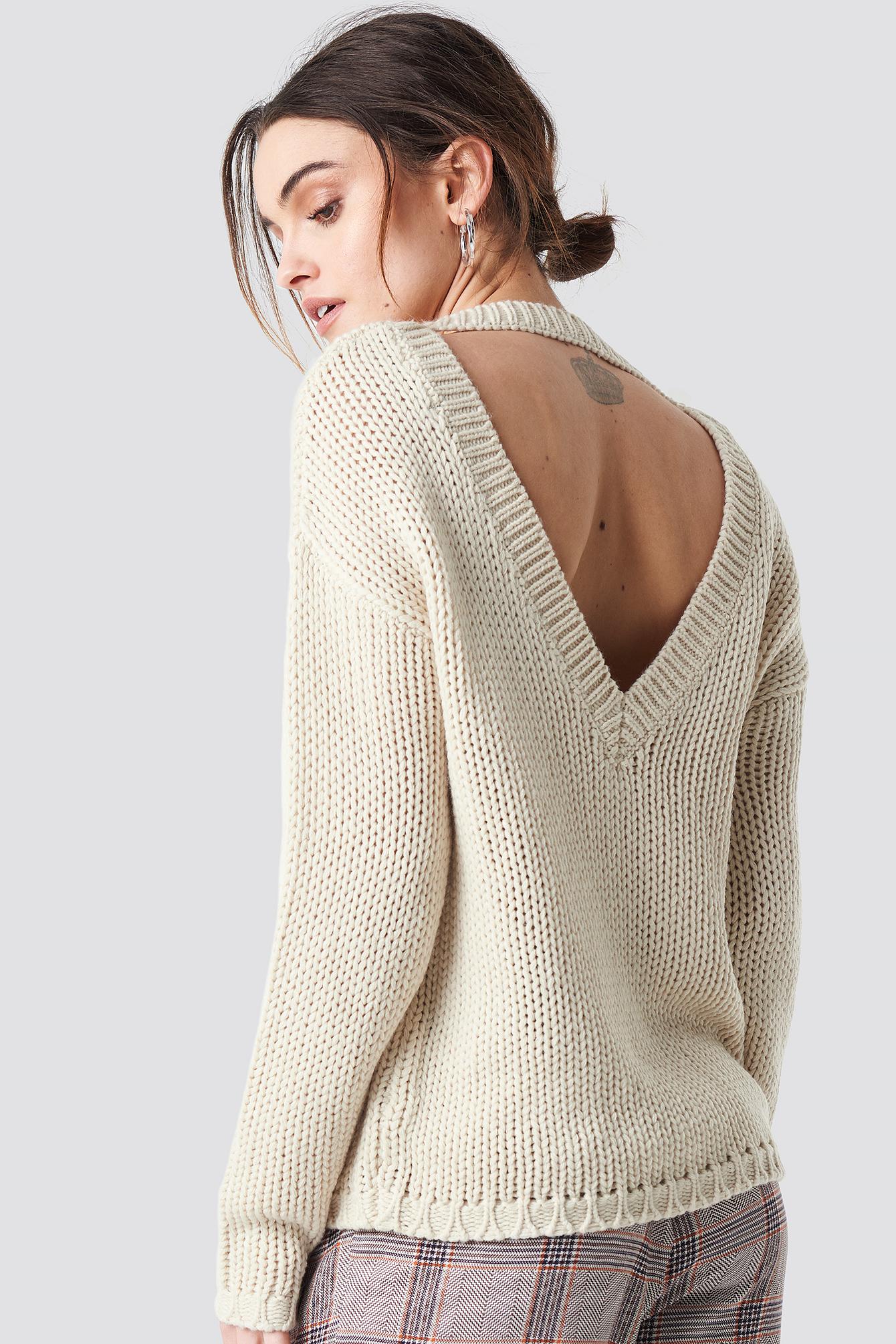 Liza Deep Back Knit NA-KD.COM