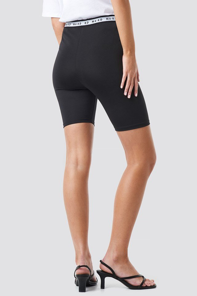 Logo Cycling Shorts Black