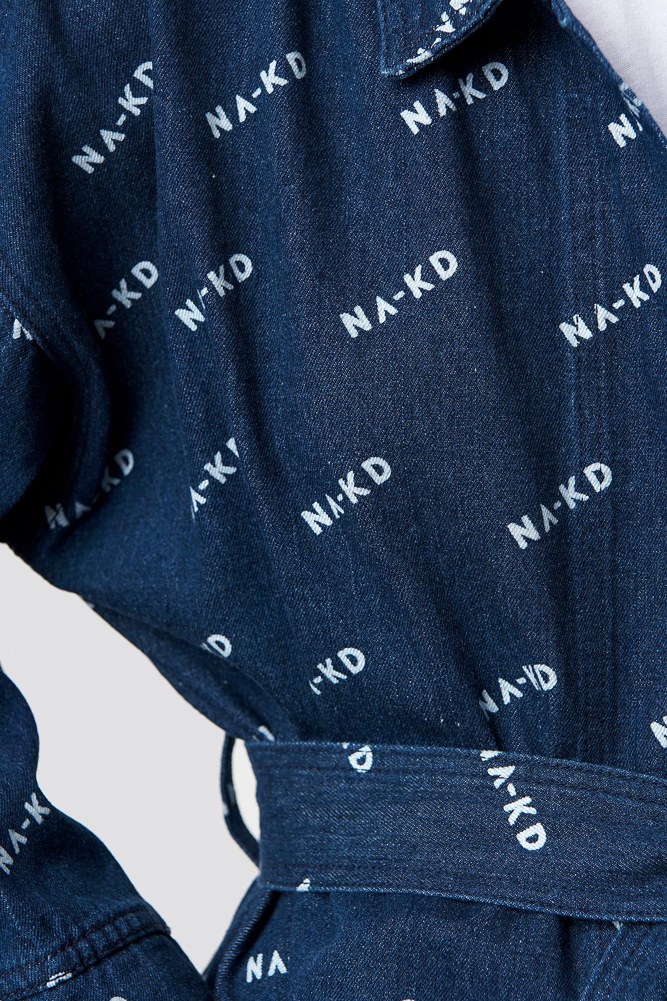 Logo denim Kimono NA-KD.COM