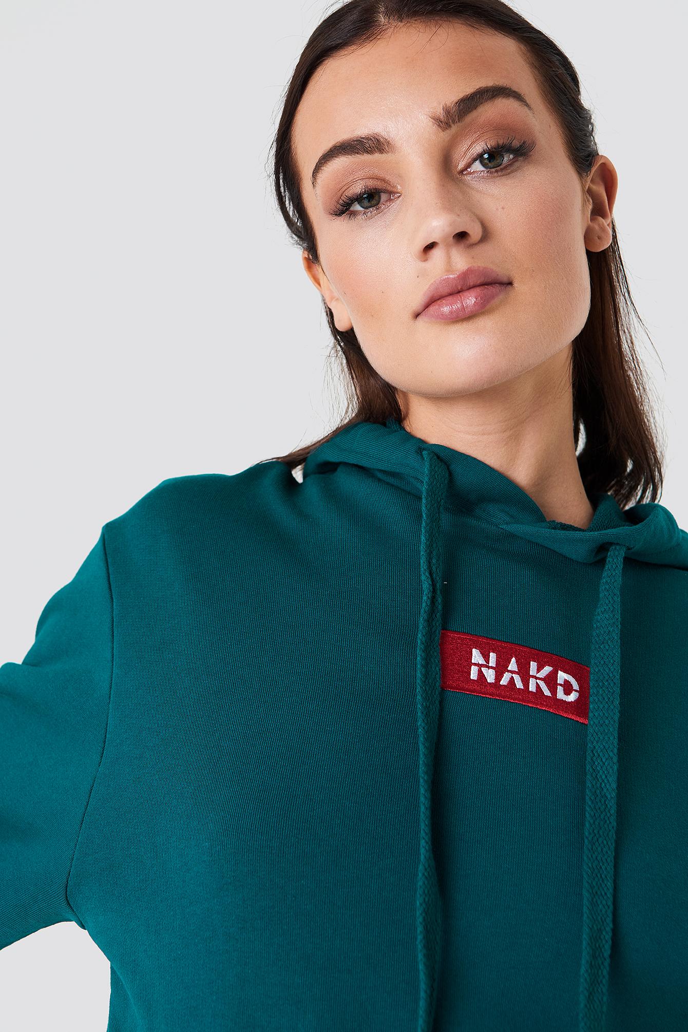 Bluza z kapturem i logo NA-KD NA-KD.COM