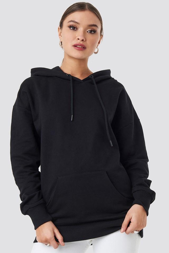 Logo Oversized Hoodie Black