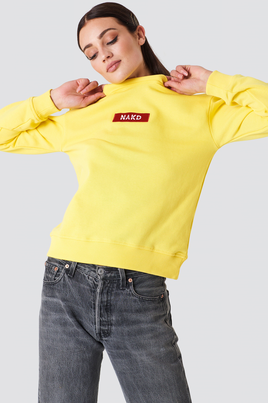 Bluza z logo NA-KD NA-KD.COM
