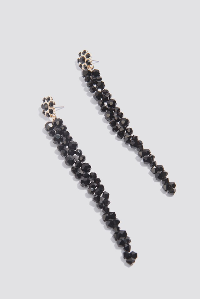 Long Beaded Drop Earrings NA-KD.COM