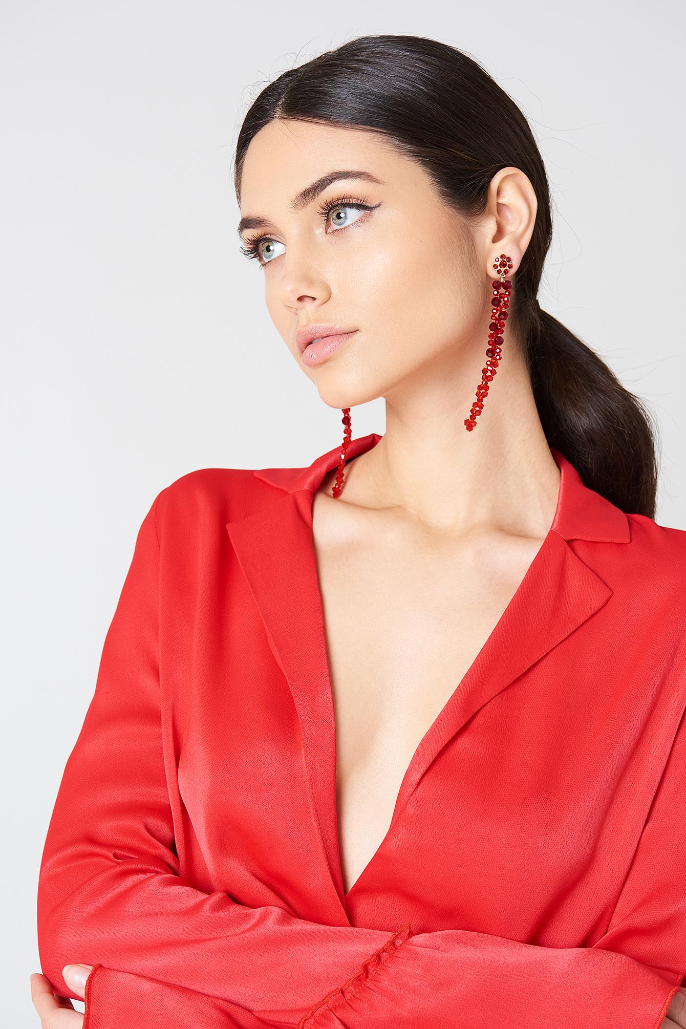 Long Beaded Drop Earrings NA-KD.COM