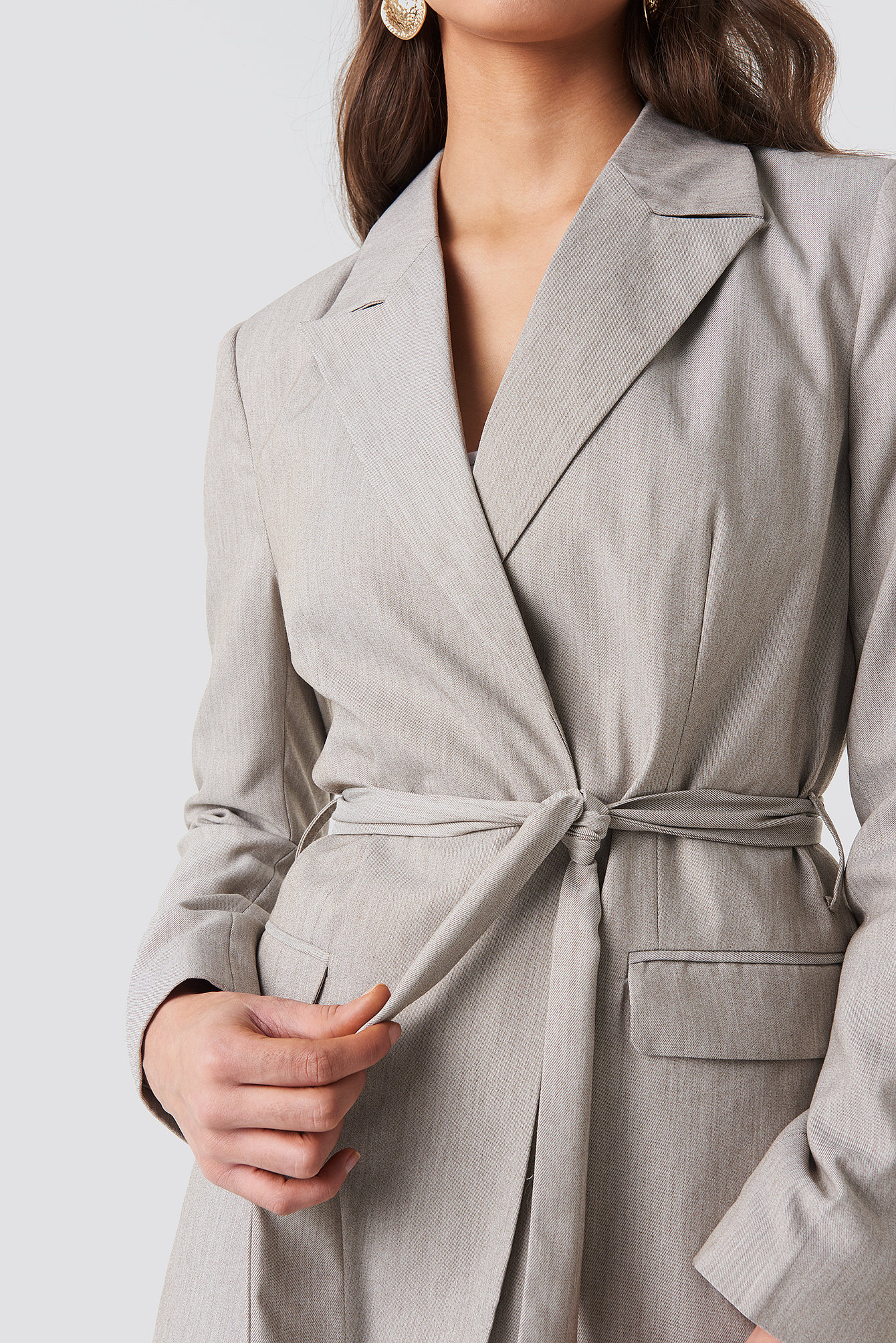 Long Belted Blazer NA-KD.COM
