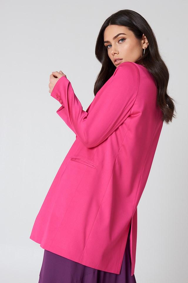 Długa marynarka Strong pink