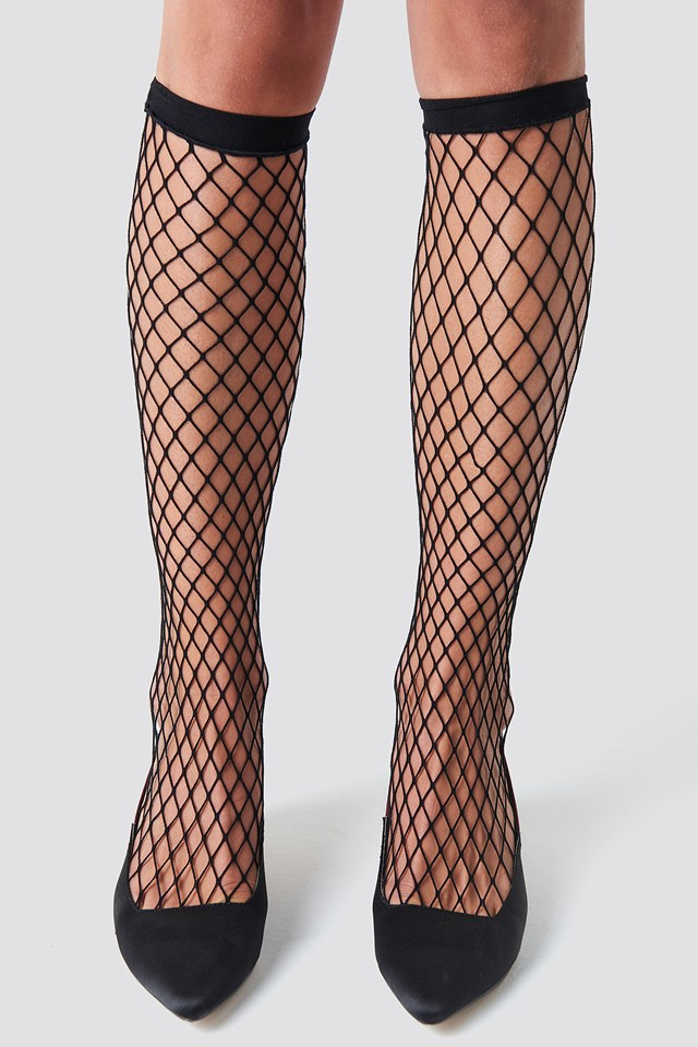 Long Fishnet Socks Black