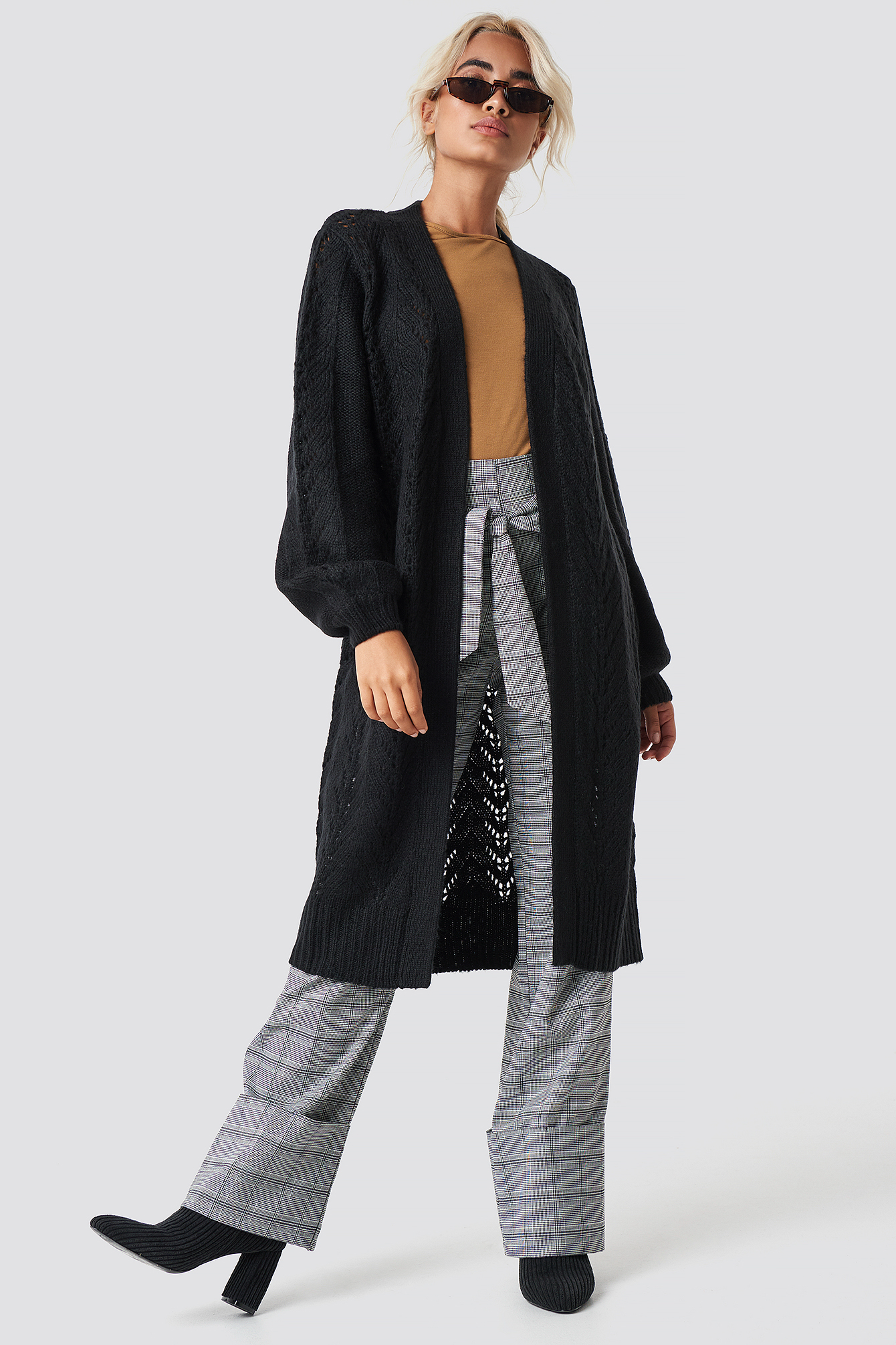 Long Knitted Cardigan NA-KD.COM