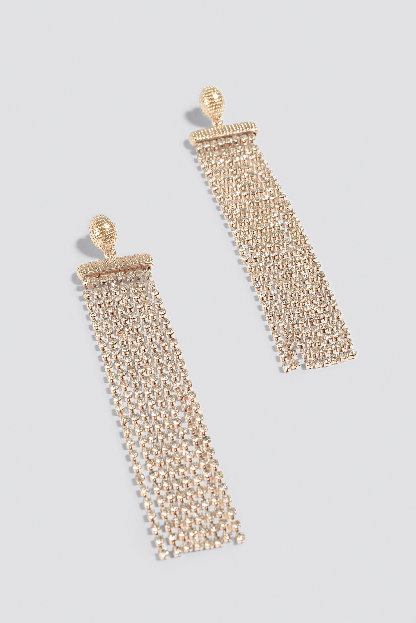 Long Multichain Rhinestone Earrings NA-KD.COM