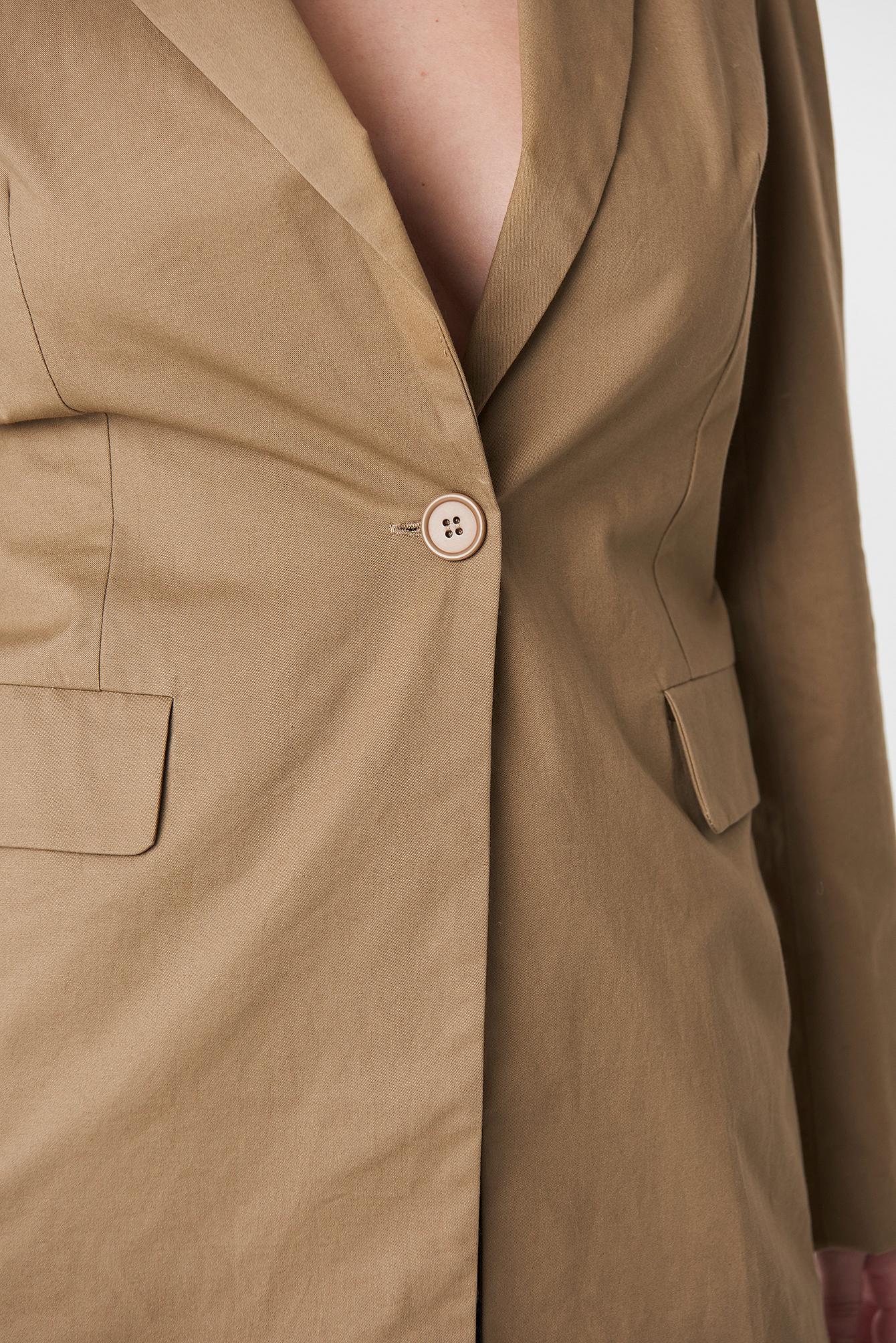 Long Padded Shoulder Blazer NA-KD.COM