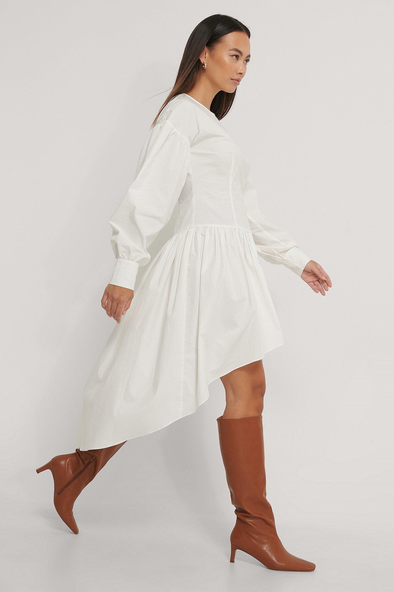 na-kd trend -  Asymmetrisches Rockkleid - White
