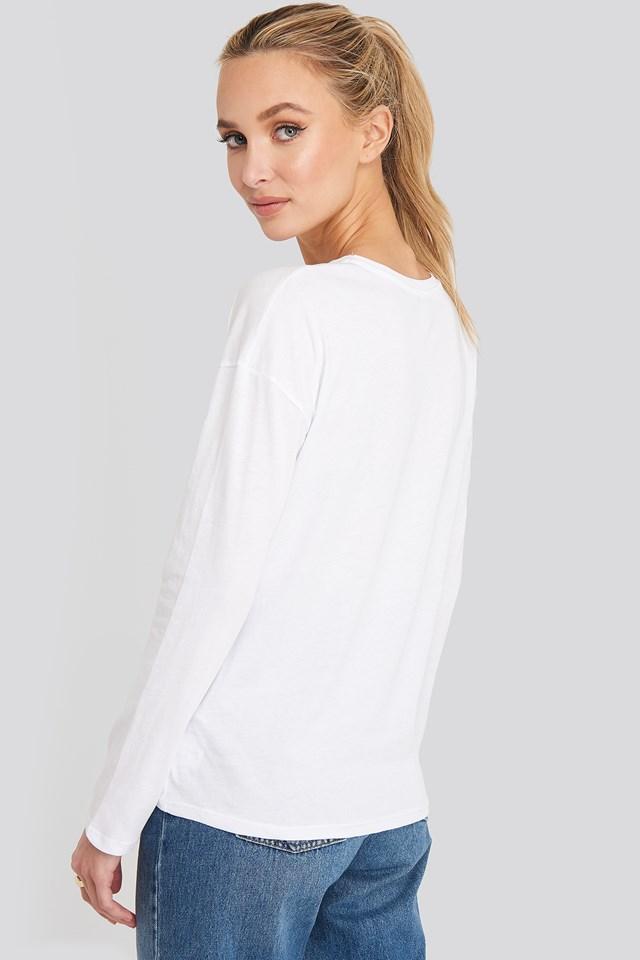 Long Sleeve Basic Top White