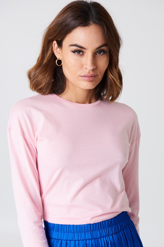 Long Sleeve Basic Top Pink