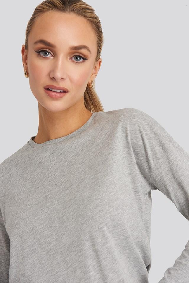 Long Sleeve Basic Top Grey Mel