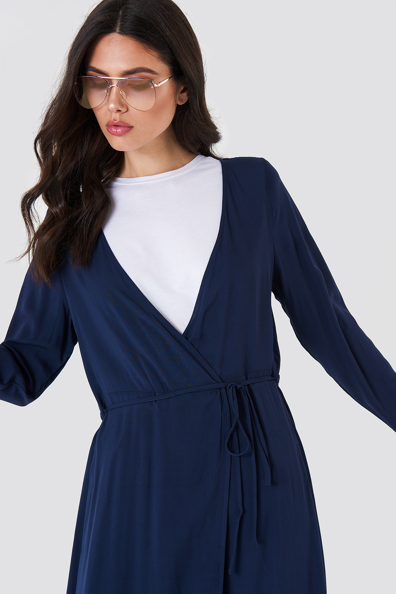 Long Sleeve Coat Dress NA-KD.COM