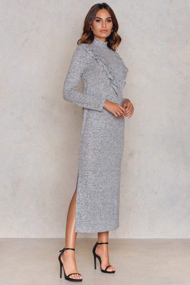 Long Sleeve Flounce Dress NA-KD.COM