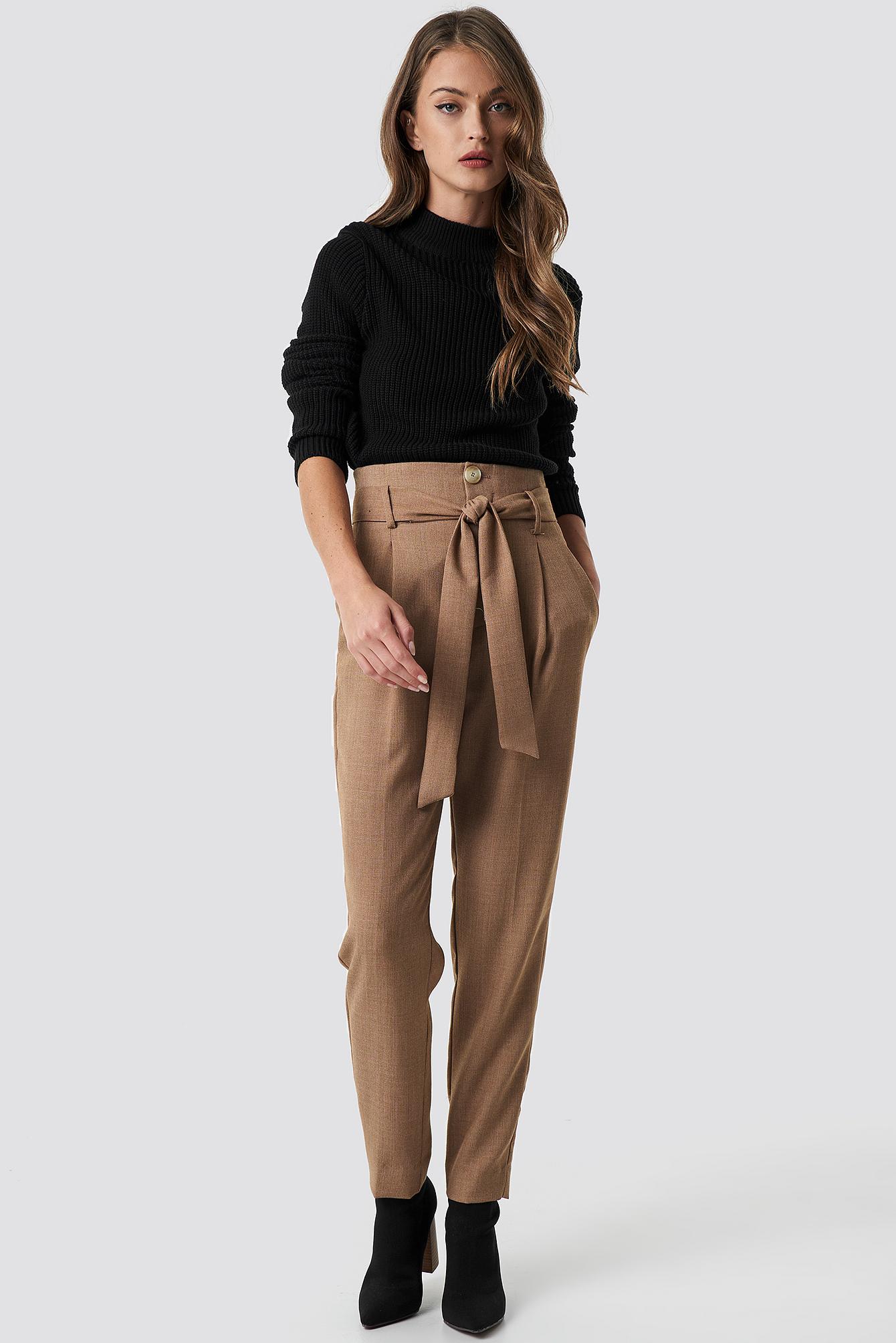 Long Sleeve Knitted Sweater NA-KD.COM