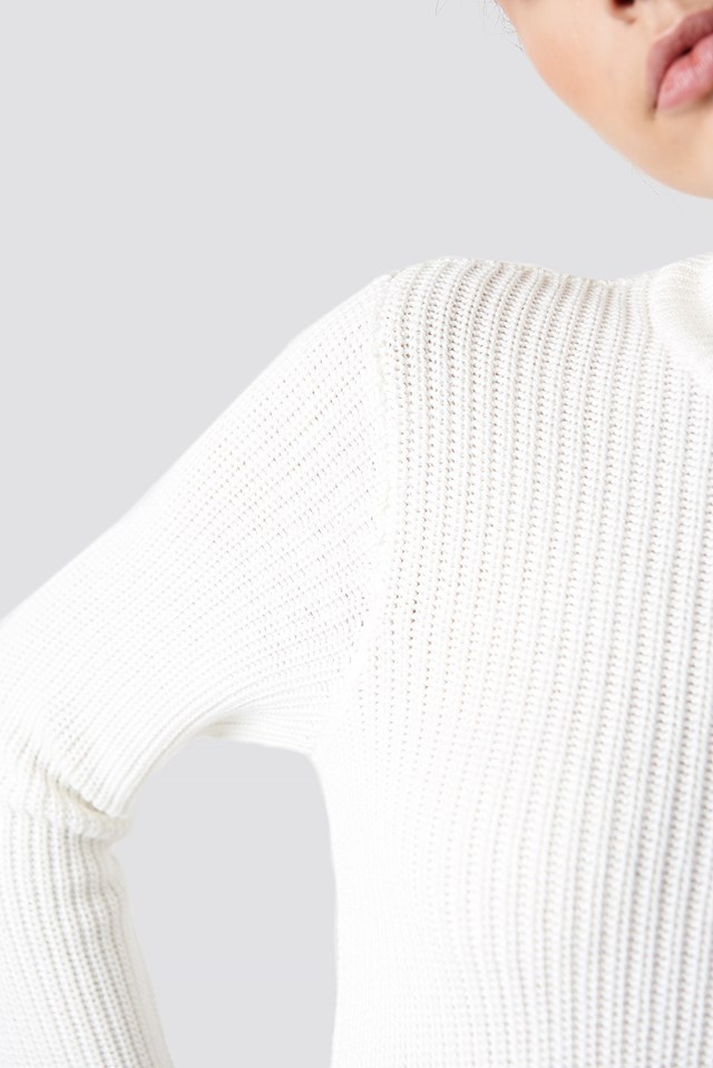 Long Sleeve Knitted Sweater NA-KD.COM