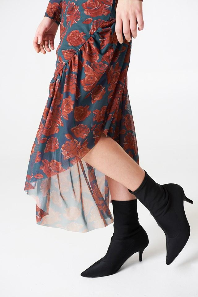 Long Sleeve Mesh Dress NA-KD.COM