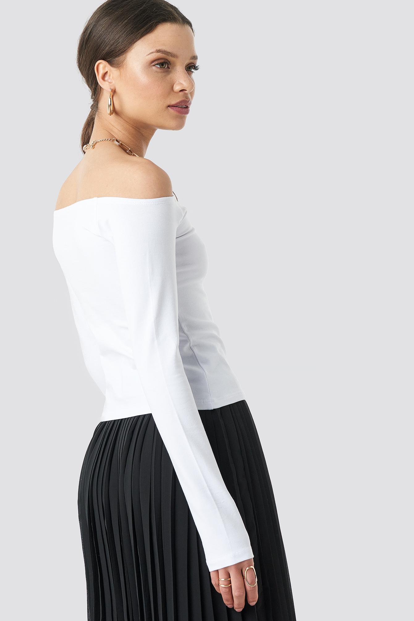Long Sleeve Off Shoulder Top NA-KD.COM